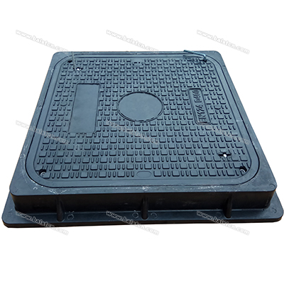 600X600 D400 SMC Manhole Cover New Design